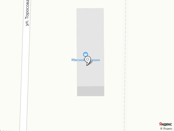 Абаканские полуфабрикаты на карте Абакана