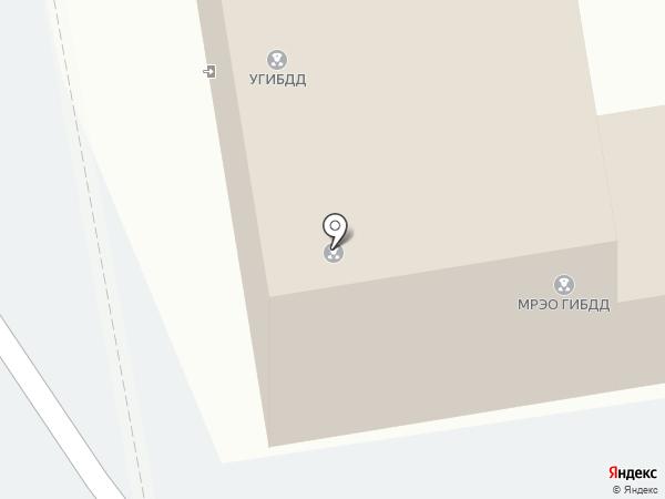 Межрайонный регистрационно-экзаменационный отдел ГИБДД МВД по Республике Хакасия на карте Абакана