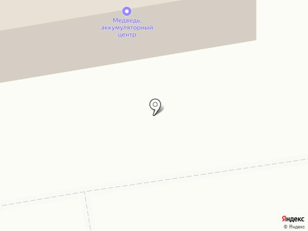 Аккумуляторные центры Медведь на карте Абакана