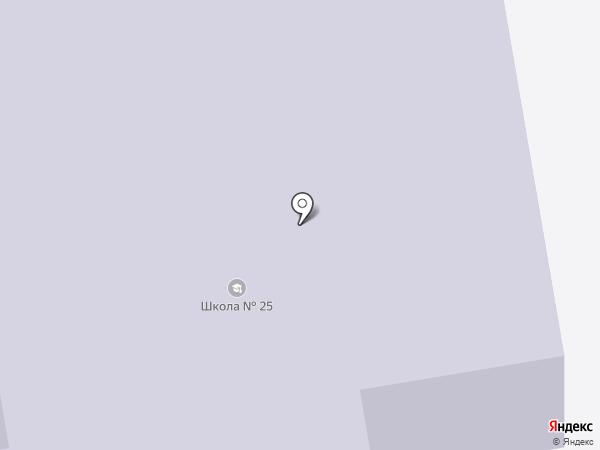 Средняя общеобразовательная школа №25 на карте Абакана