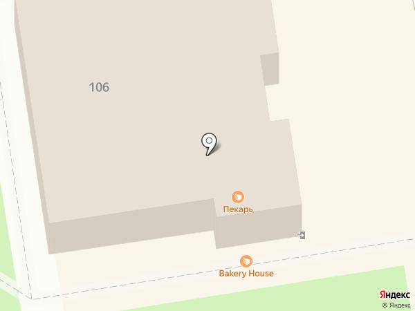 Пекарь на карте Абакана