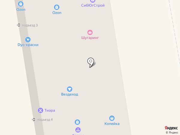 Вездеход на карте Абакана