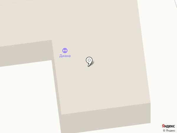 Диана на карте Абакана