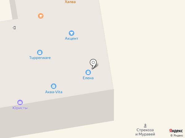 Елена на карте Абакана