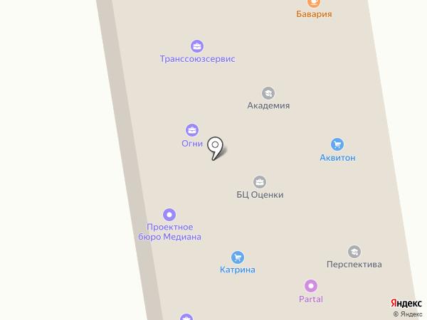 Огни на карте Абакана