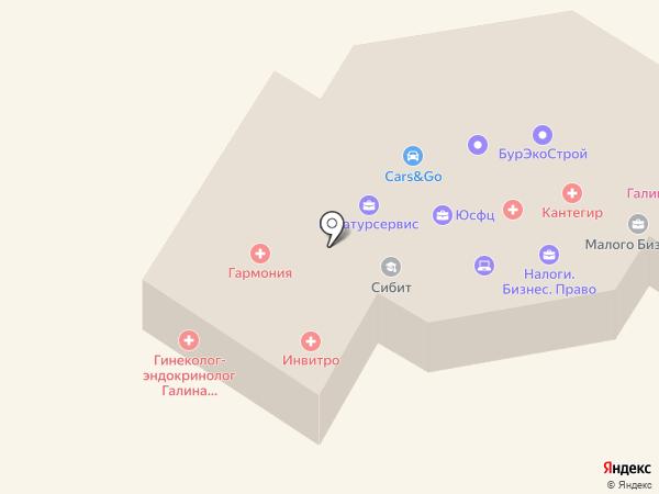 Объединение строителей Хакасии, НП на карте Абакана
