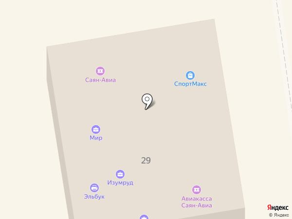 Эльбук на карте Абакана