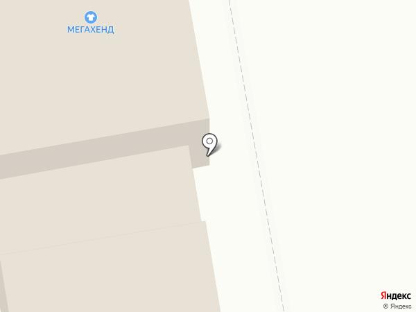 Мега-Хенд на карте Абакана
