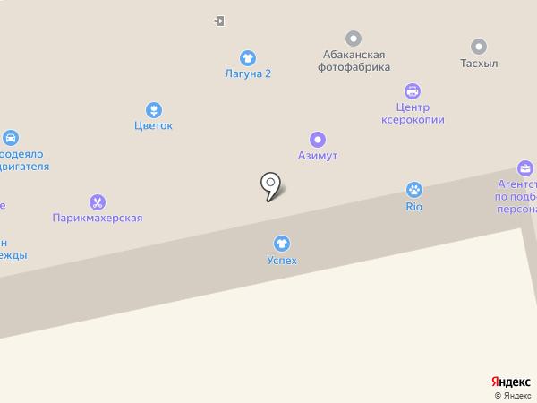 Иголочка на карте Абакана