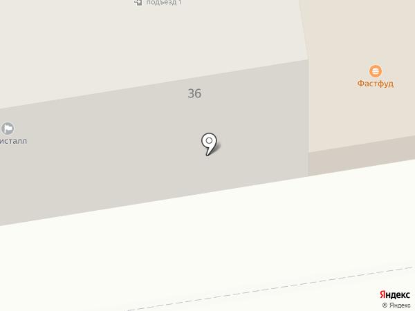 Кристалл на карте Абакана