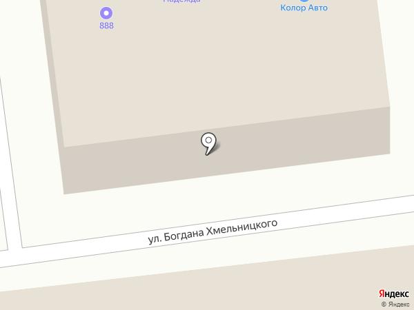 Авто-лайт на карте Абакана