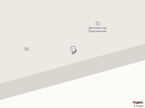 Подснежник на карте Абакана