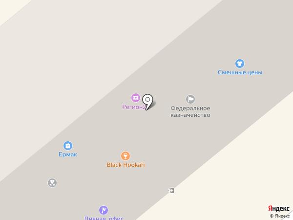 Ермак-Абакан на карте Минусинска