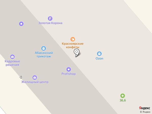 Юпитер на карте Минусинска