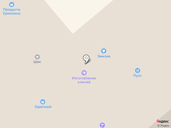 Заречный на карте Минусинска