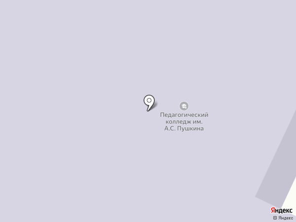 Минусинский педагогический колледж им. А.С. Пушкина на карте Минусинска
