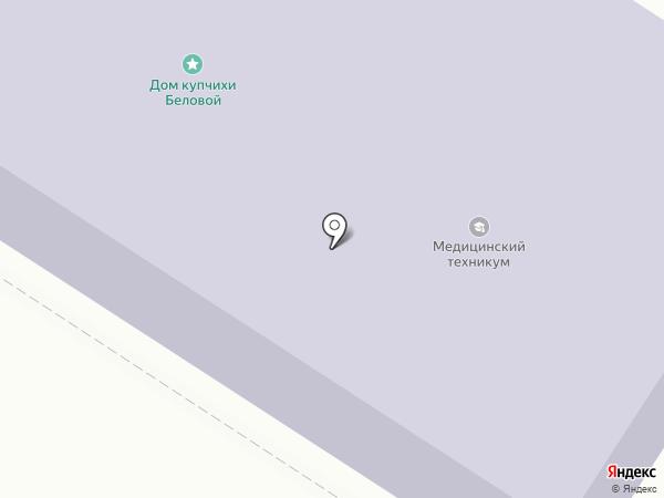 Минусинский медицинский техникум на карте Минусинска