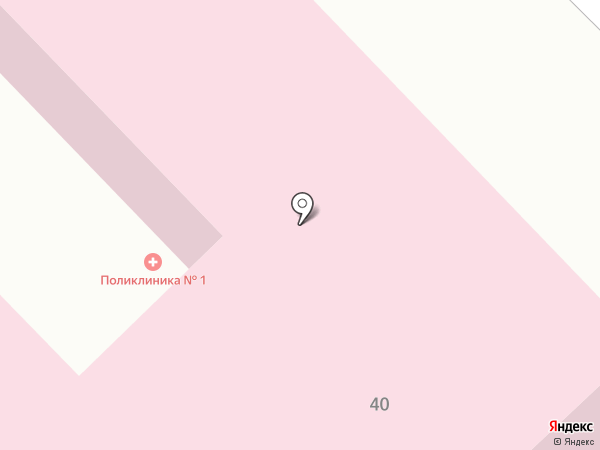 Минусинская поликлиника для взрослых на карте Минусинска