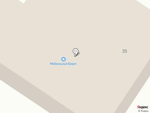 Мебельный Берег на карте Минусинска