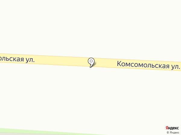 Цветы на Комсомольской на карте Дивногорска
