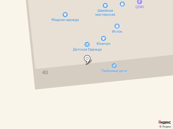Киоск по продаже фруктов и овощей на карте Дивногорска