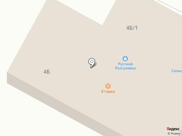 Сельская лавка на карте Емельяново