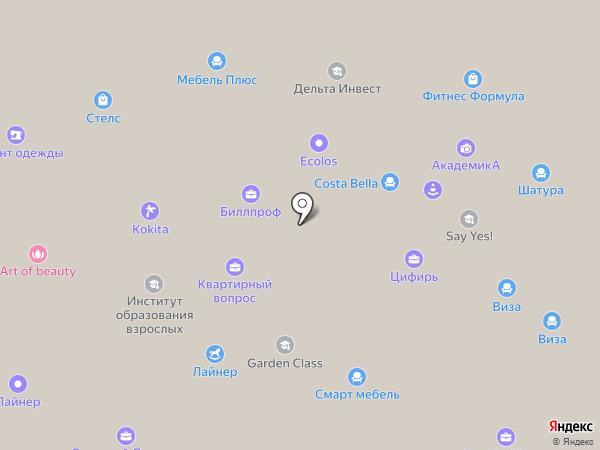 Амегоз на карте Красноярска