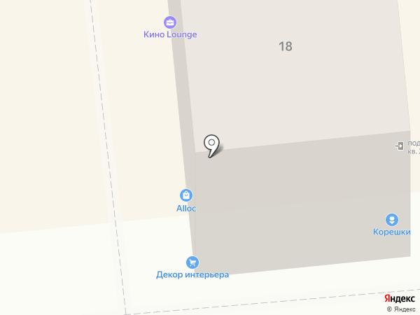 Монамур на карте Красноярска