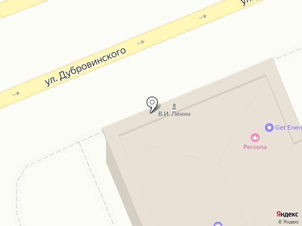 Речной на карте Красноярска
