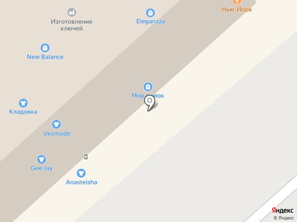 Берег на карте Красноярска