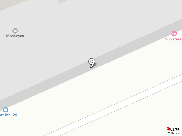 Гирлянда на карте Красноярска