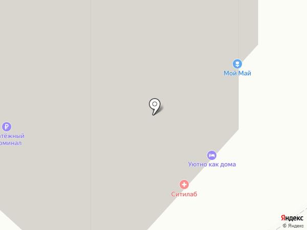 Родина студента на карте Красноярска