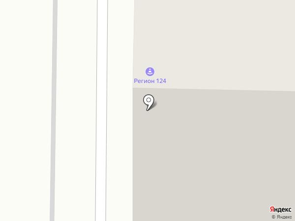 Снигирь на карте Красноярска