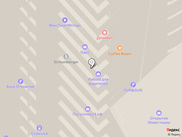 Улыбка Виктории на карте Красноярска