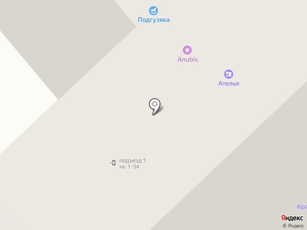 Подгузяка на карте Красноярска