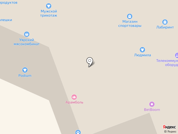 Алтайская лавка на карте Красноярска