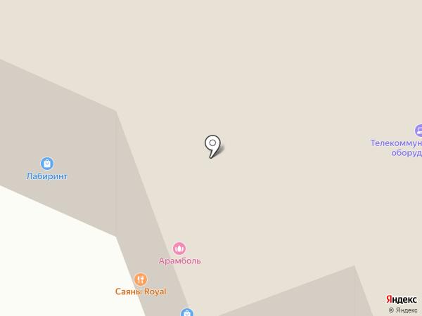 Золотой стрелец на карте Красноярска
