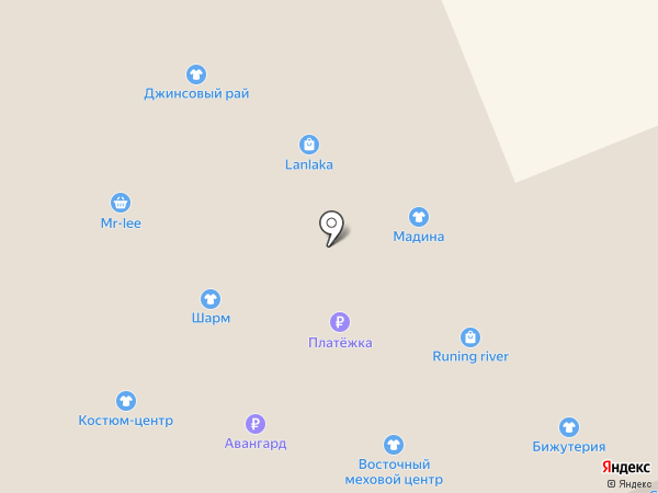 Восточный меховой центр на карте Красноярска