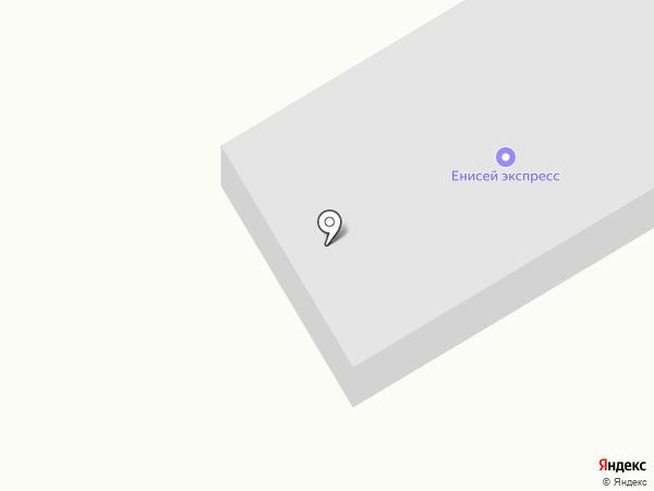 Енисей-экспресс на карте Красноярска