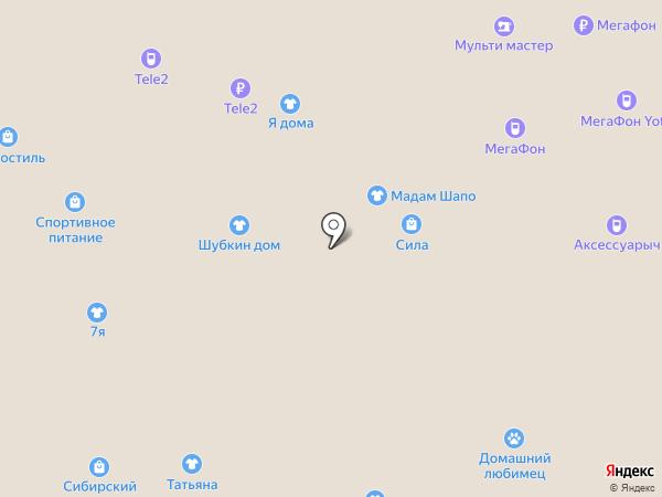 Дивина на карте Красноярска