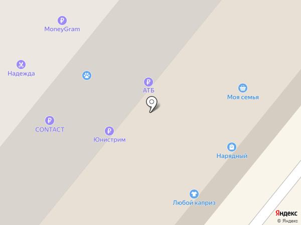 Универсал на карте Сосновоборска