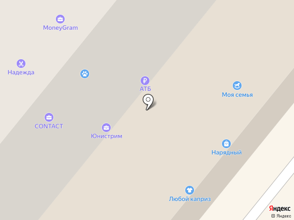 Семерочка на карте Сосновоборска