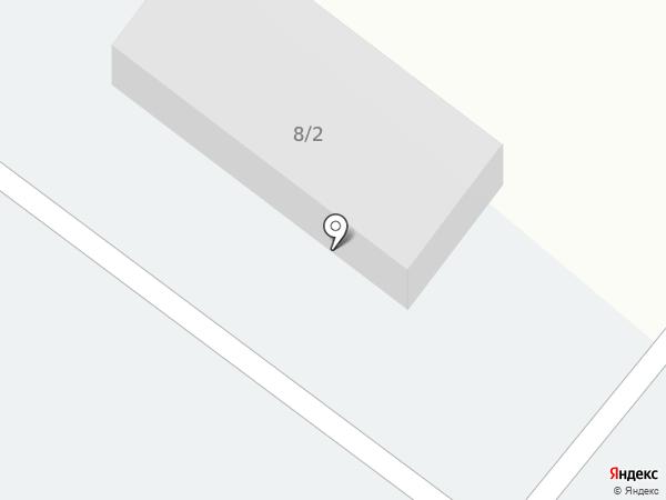 Автостоянка на ул. Юности на карте Сосновоборска