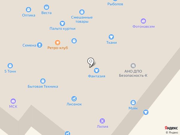 Веста на карте Сосновоборска