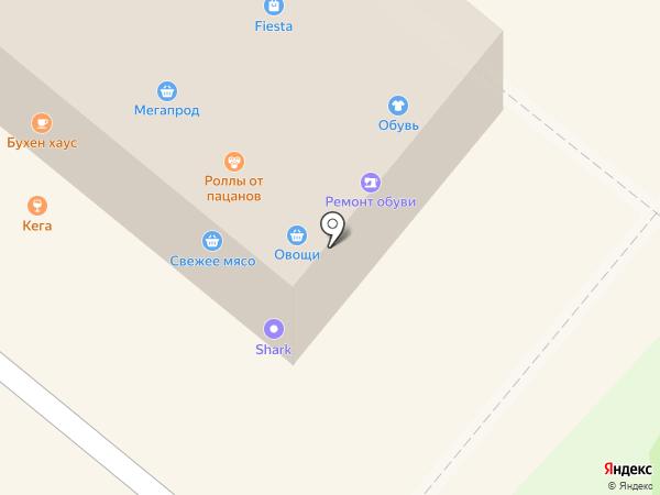 Мега на карте Сосновоборска
