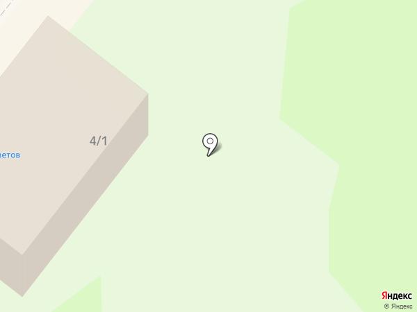 Янтарь на карте Сосновоборска