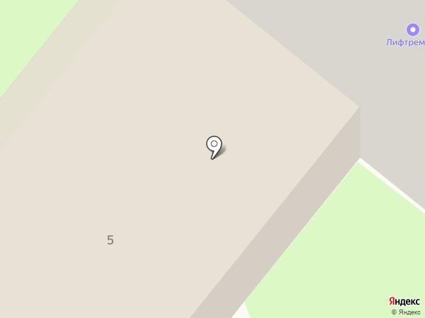 Перекресток на карте Сосновоборска