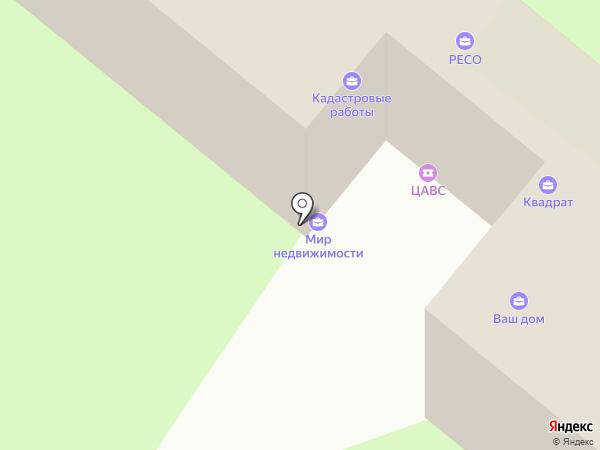 КВАДРАТ на карте Сосновоборска
