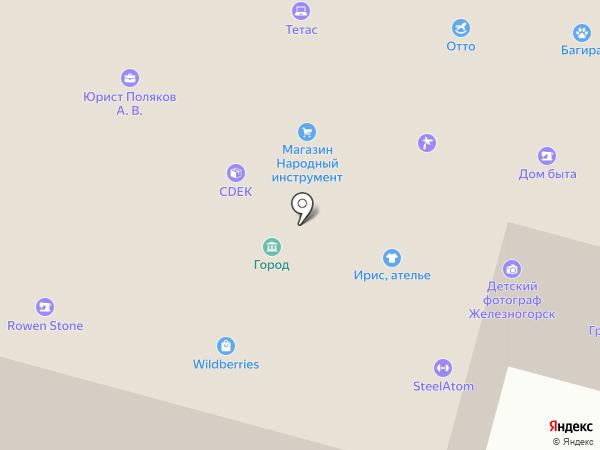 Ирис на карте Железногорска
