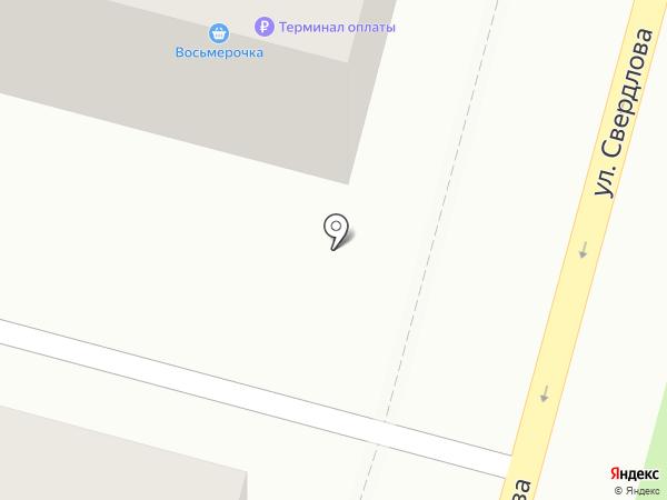 Восьмерочка на карте Железногорска